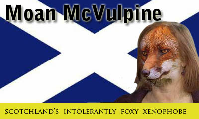 Moan McVulpine providing 'service' to the Firstminster whenever he wants it.